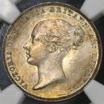 1852 NGC MS 62 Victoria 6 Pence Great Britain Silver Coin (18110604C)