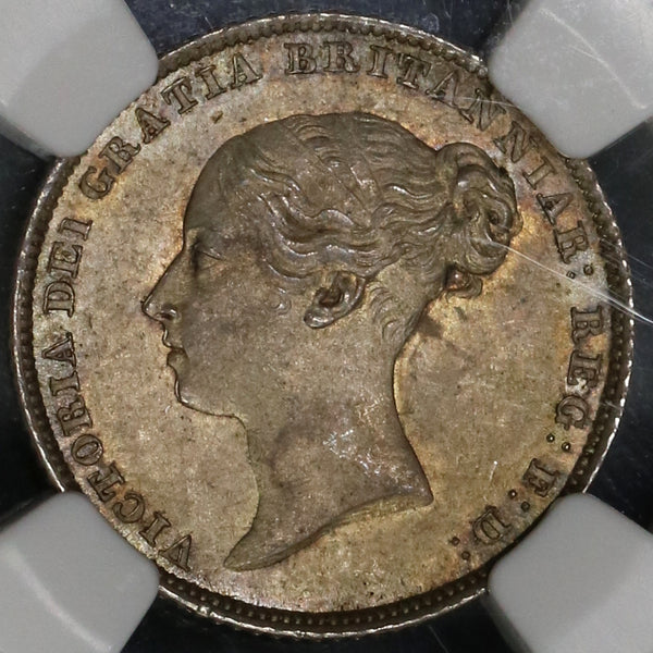 1853 NGC MS 63 Victoria 6 Pence Great Britain Silver Coin (18110605C)