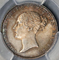 1867 PCGS MS 64 Victoria 6 Pence Die 3 Rare Great Britain R2 Silver Coin (18110701C)