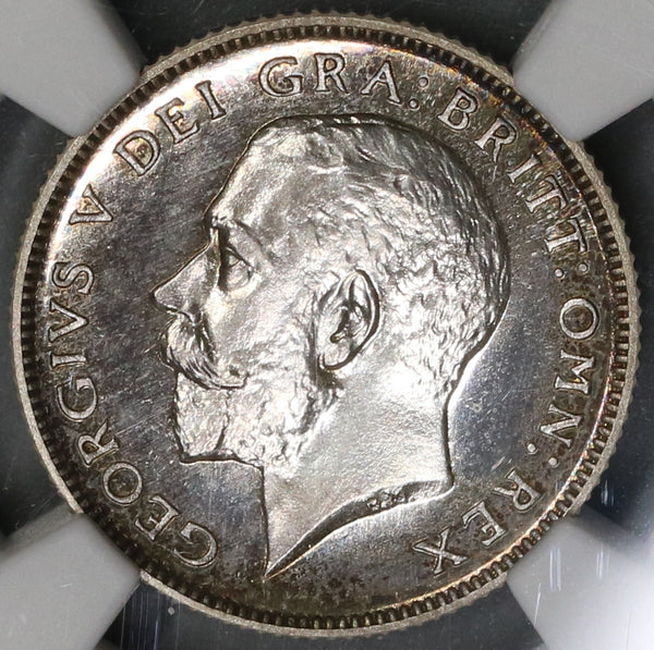 1911 NGC PF 64 Great Britain 6 Pence George V Proof Silver Coin (19082601C)