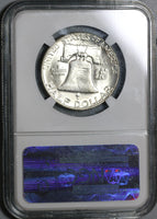 1961-D NGC MS 64 Franklin Half Dollar BU 90% Silver United States Coin (20012701C)