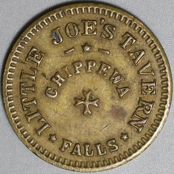 1940s Little Joe's Tavern Chippewa Falls WI 5 Cents Good For Token Coin (19100802R)