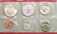 1959 US P & D Mint Set United States 90% Silver Coins with Envelope (20051604R)