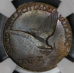 1942 NGC MS 63 Vatican 5 Centesimi Dove Pius XII Coin 5K Minted (19020303C)