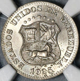1925 NGC MS 65 Venezuela 5 Centimos Horse Mint State Coin (20052801C)