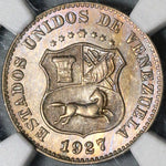 1927 NGC MS 64 Venezuela 5 Centimos Horse Mint State Coin (20121801C)