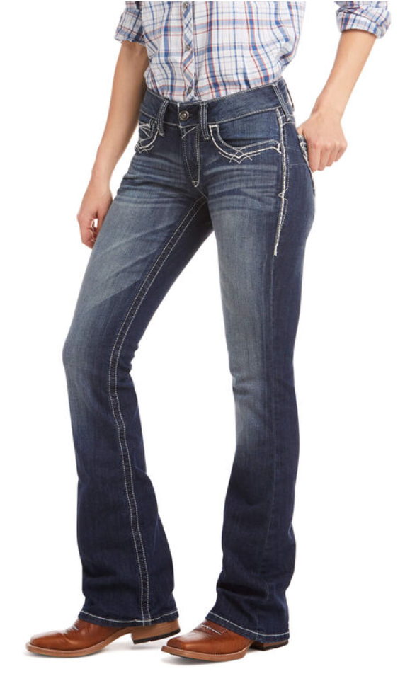 Ariat® Women's R.E.A.L. Mid Rise Stretch Entwined Boot Cut Jean - Whitt & Co. Clothing
