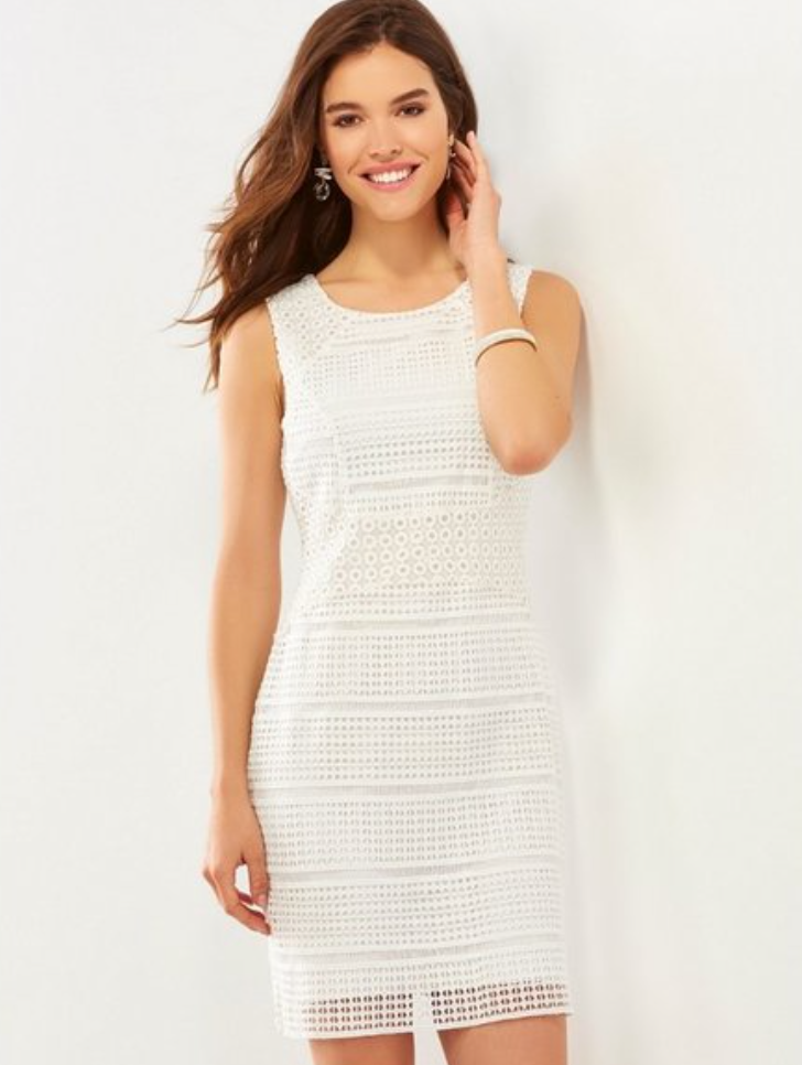 Charlie Paige White Crochet Lined Sleeveless Dress - Whitt & Co. Clothing