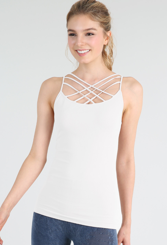 Nikibiki Triple Cross Strap Camisole - Whitt & Co. Clothing