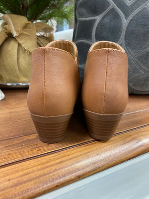 Qupid Camel Booties - Whitt & Co. Clothing