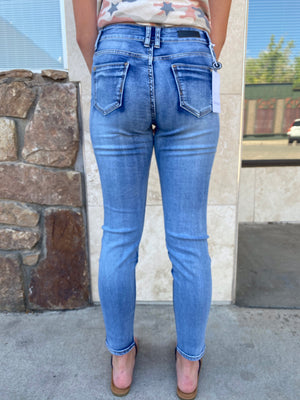 American Blue Mid Rise Stretch Skinny Jeans - Whitt & Co. Clothing