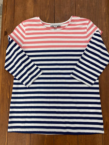 Southern Lady 3/4 Sleeve Stripe Top - Whitt & Co. Clothing