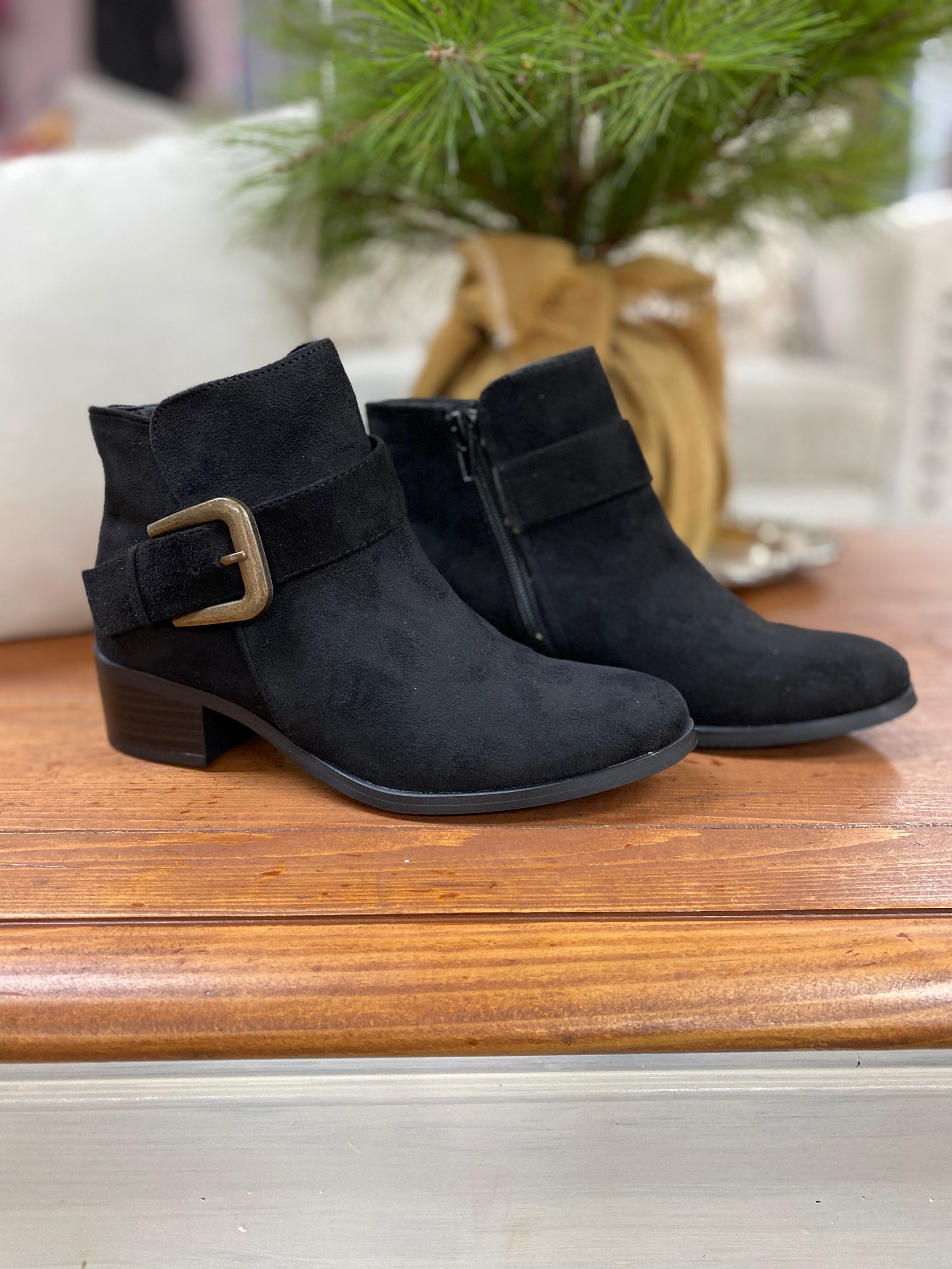 Qupid Black Booties - Whitt & Co. Clothing