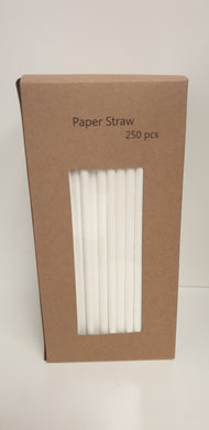 Straw paper 250 pcs white - biodegradable
