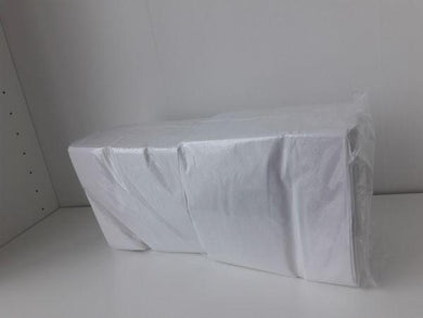 White napkin 33 cm, 1 ply, poppies, 4 fold, box of 5000 pcs