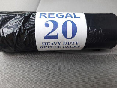 Bin bag 20/1 black on roll 750*850mm