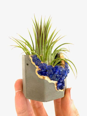 Crystal Geode Concrete Planter