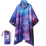Adult's Poncho - Space