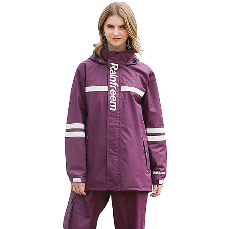 Motorcycle Set Raincoat - Purple