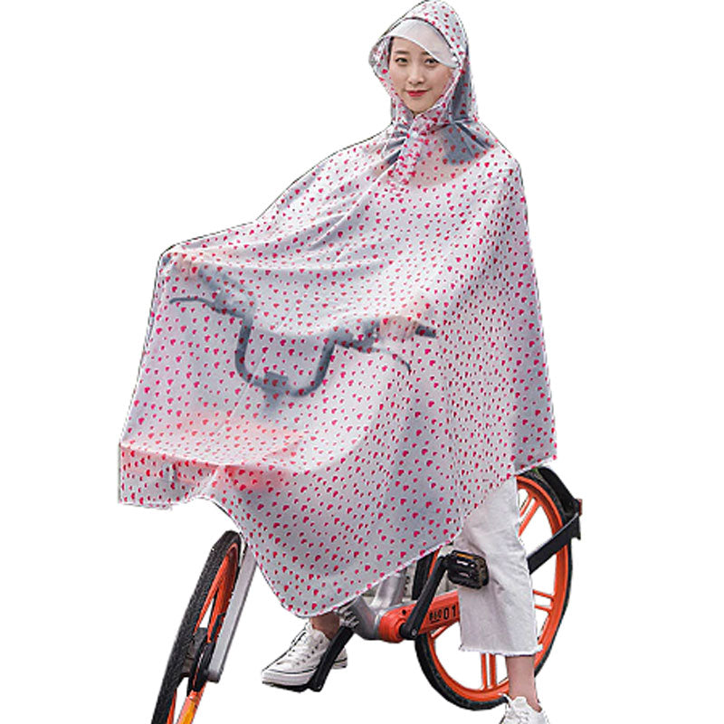 Adult's Bike Poncho - Hearts