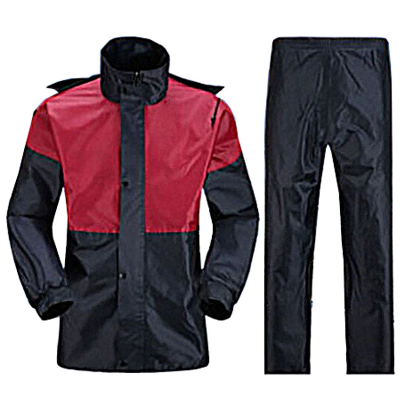 Motorcycle Set Raincoat - Maroon