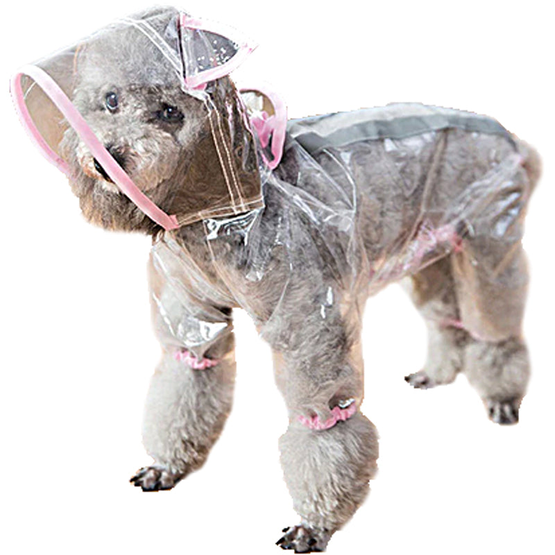 Dog Raincoat With Ears - Pink