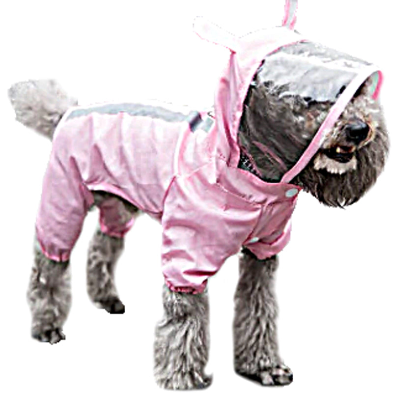 Dog Raincoat With Ears - Hot Pink