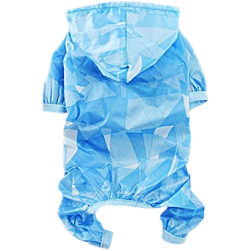 Dog Raincoat - Blue Marble