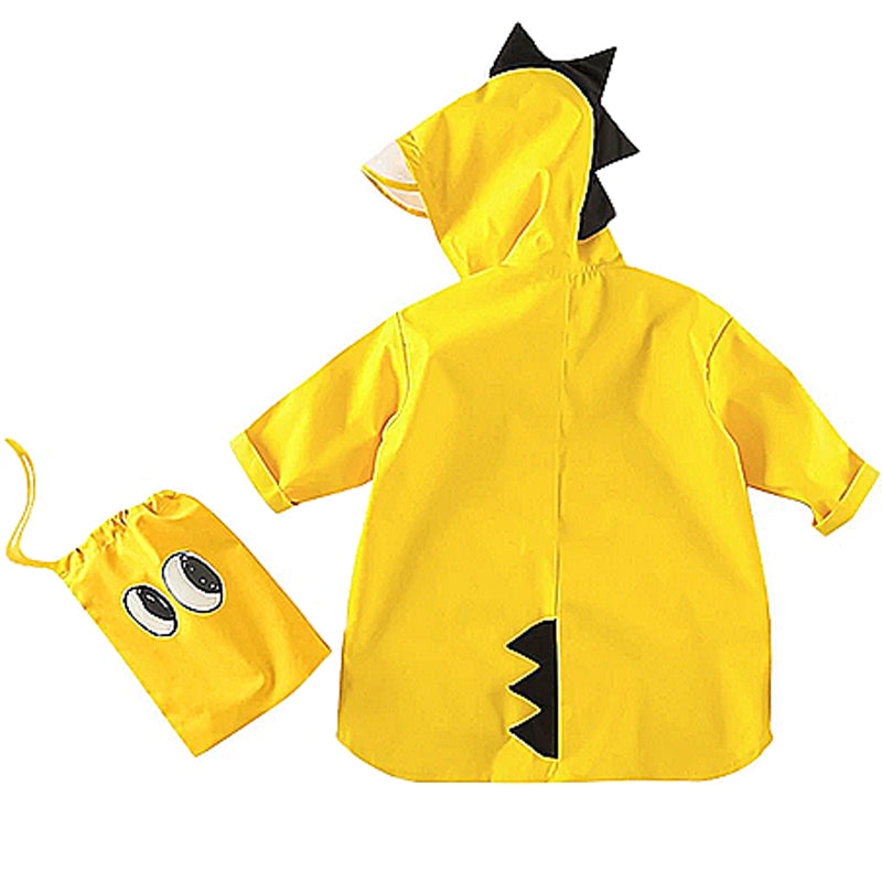 Children's Raincoat Dinosaur - Yellow