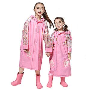 Children's Raincoat - Pink Monkey