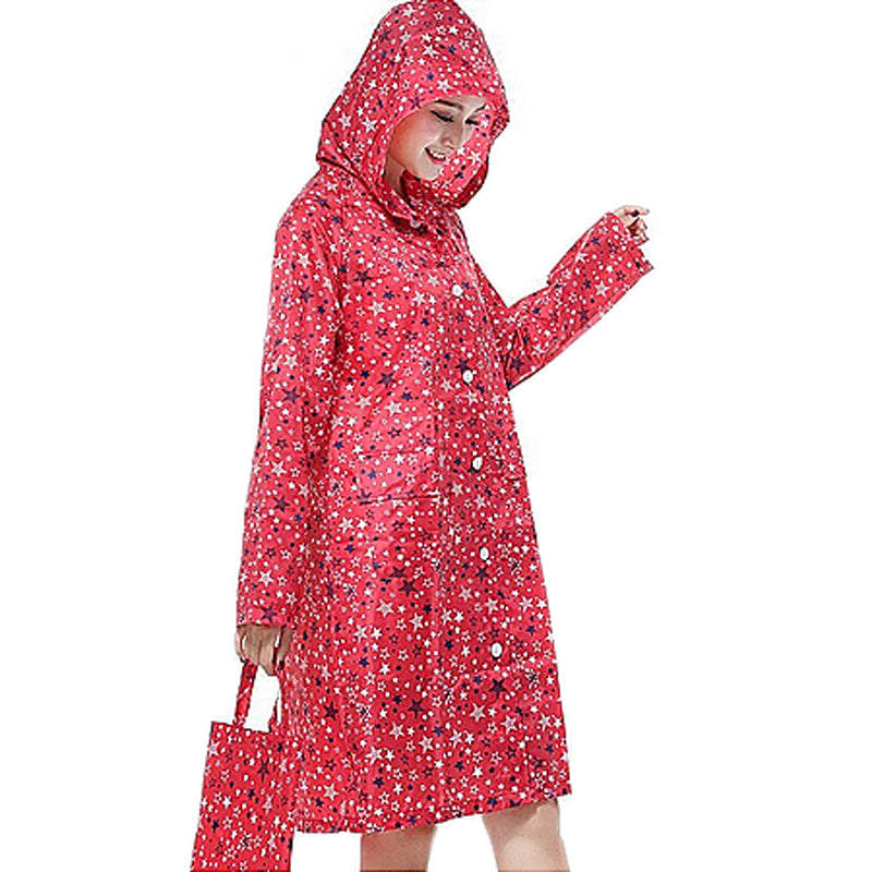 Women's Raincoat - Red Star