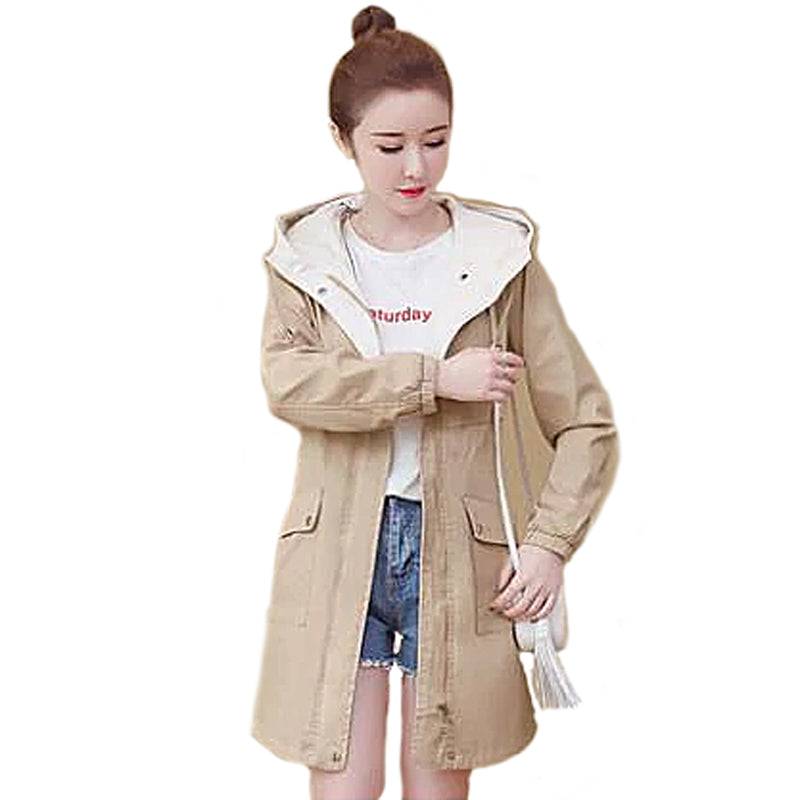 Women's Raincoat - Khaki