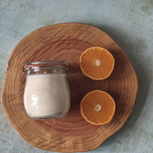 Botanical Orange Blossom Weck Jar Candle - heart deco