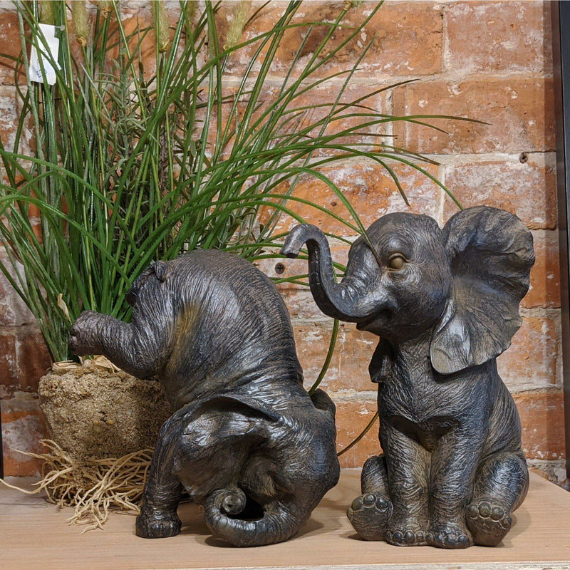 Pair Playing Elephant Ornaments