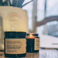 Anti-Stress Essential Oil Blend Candle - heart deco