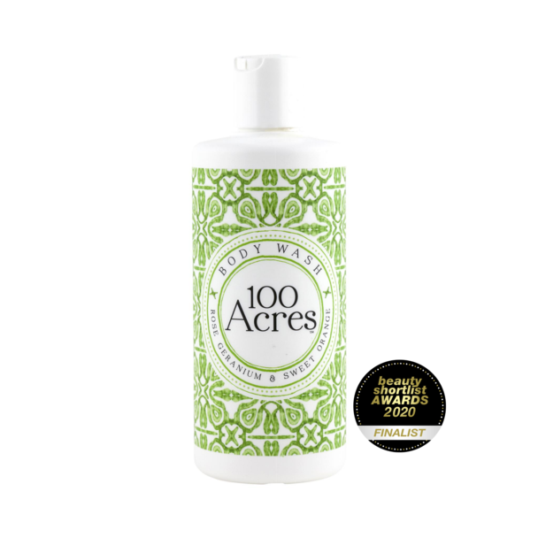 100 Acres Body Wash - heart deco