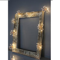 Starburst Copper led Fairy Lights - Battery powered - heart deco