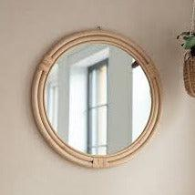 Mayfield Rattan Mirror - heart deco