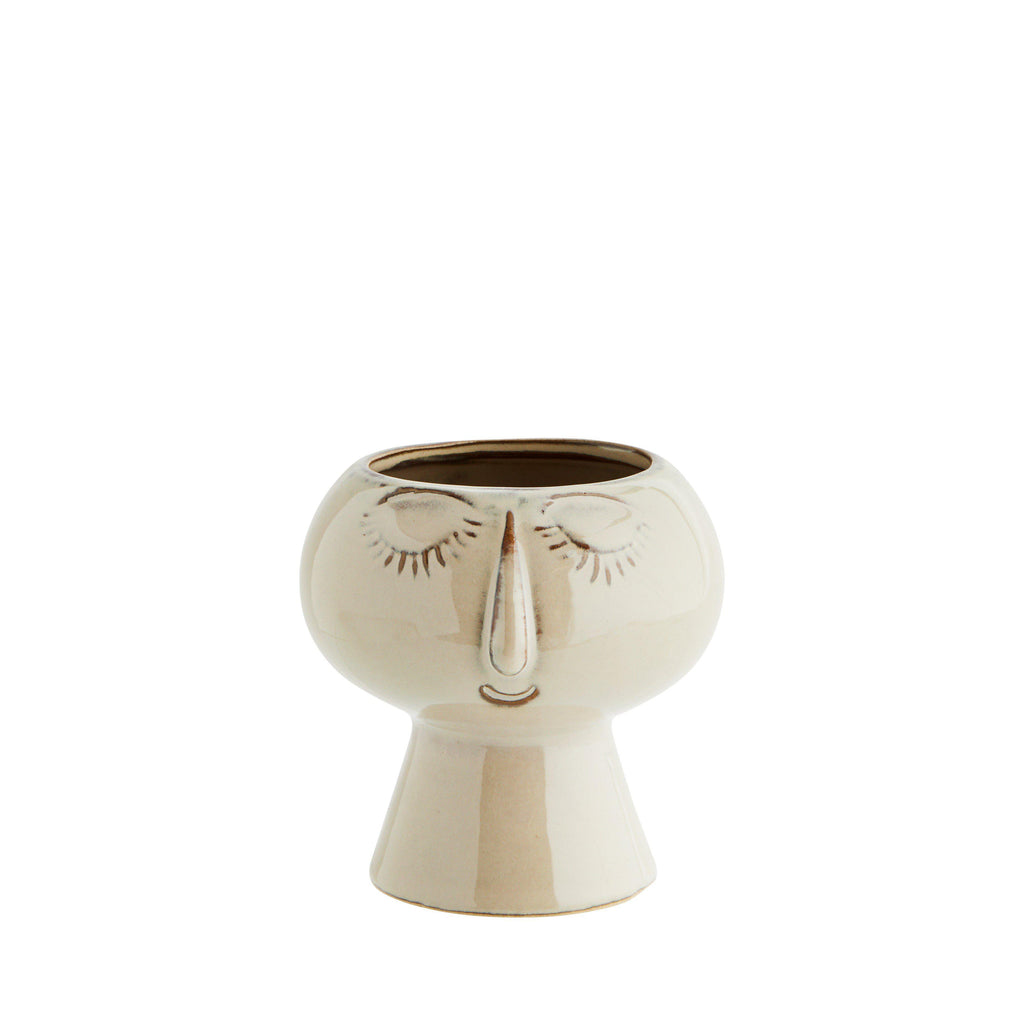 Face Vase Plant Pot - Two Assorted - heart deco