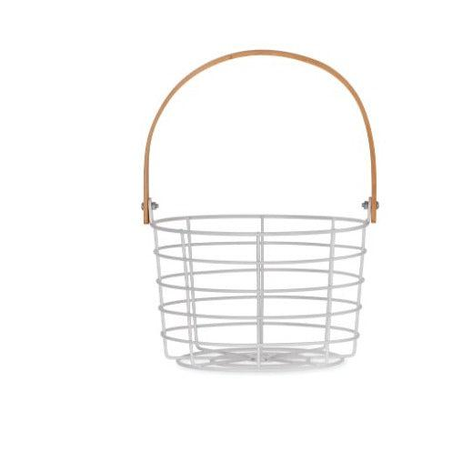 Wire Storage Basket - heart deco