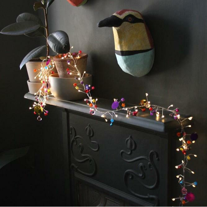 Folklore String Lights- Battery-heart deco