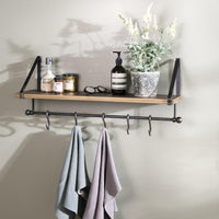 Iron Shelf  with Brushed Bronze Finish - heart deco