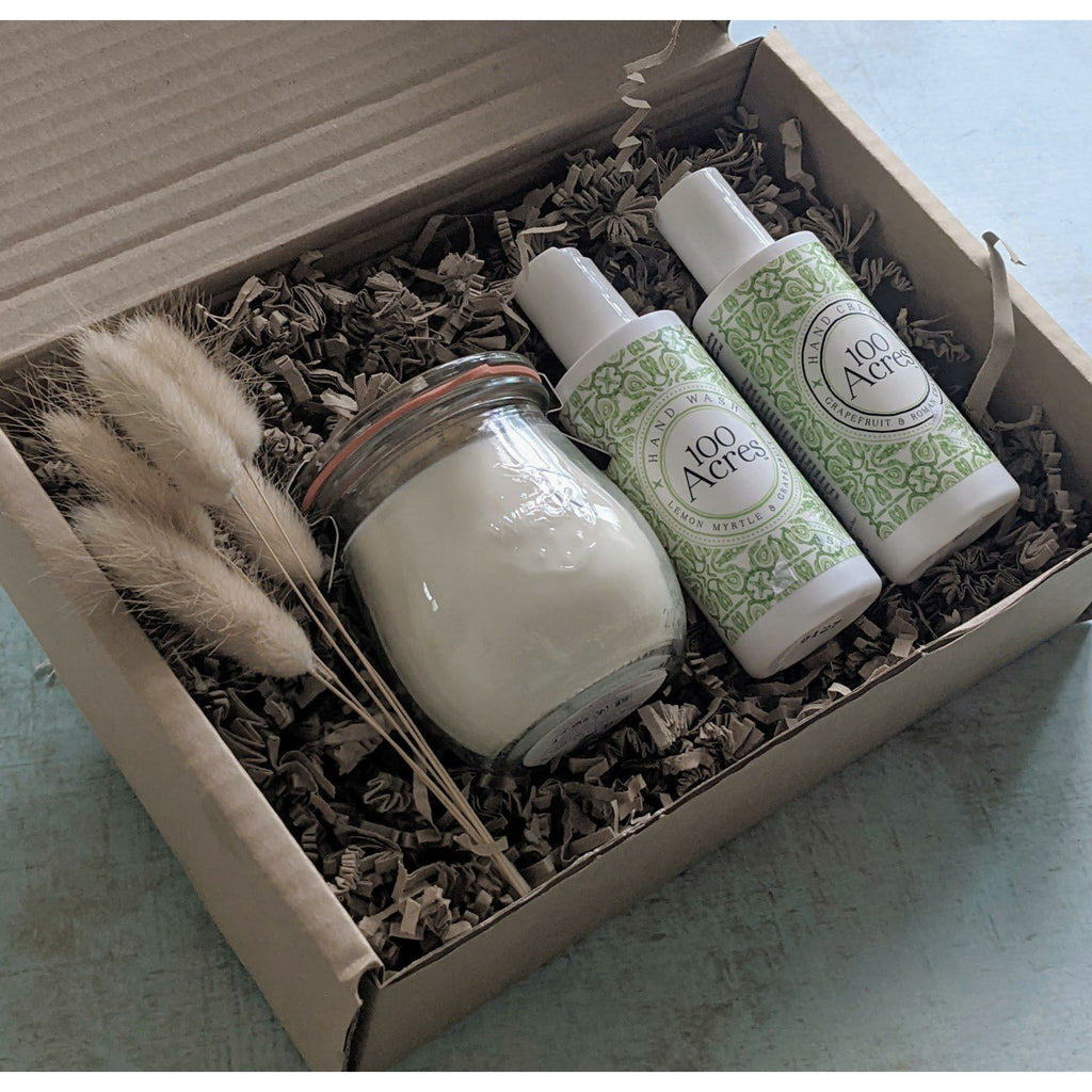 Hand Care & Candle Gift Box - heart deco