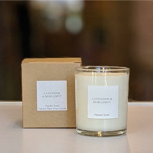 Lavender and Bergamot scented candle-heart deco