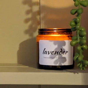 Lavender Essential Oil Candle - heart deco