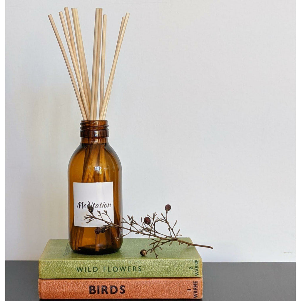 Meditation Essential Oil Reed Diffuser-heart deco