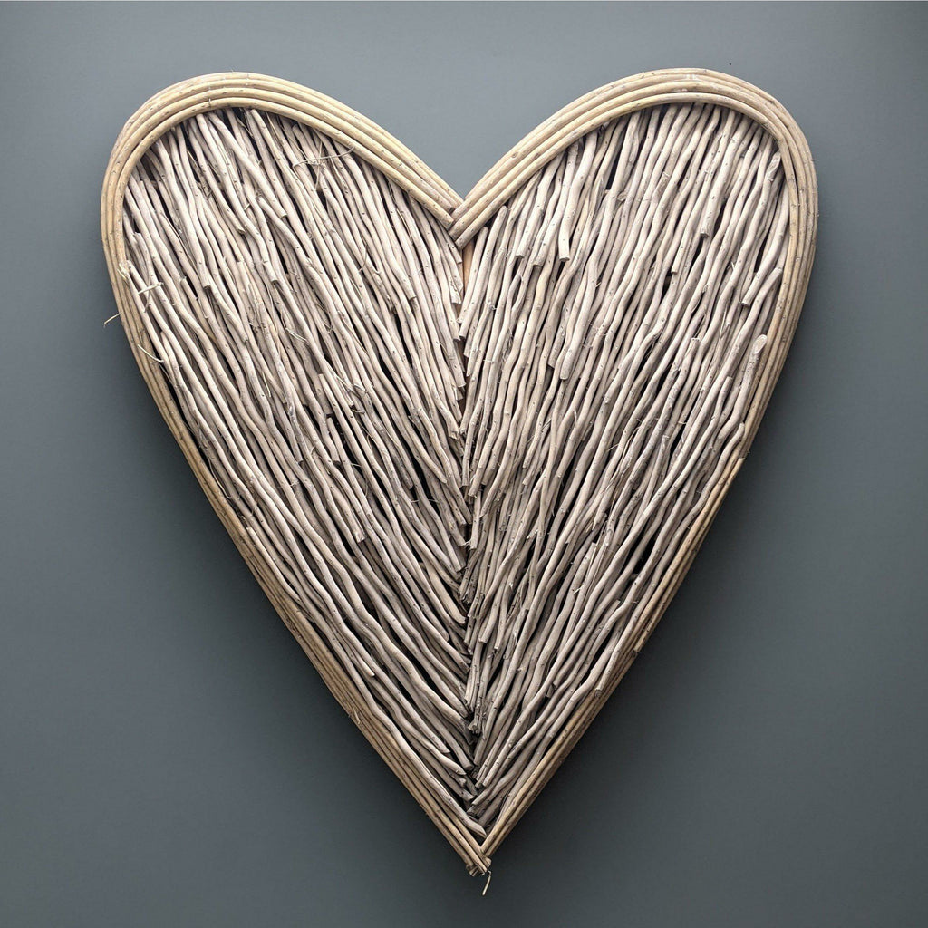 Large Natural Willow Hanging Heart