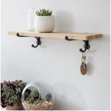 Oak and Iron Rustic Shelf