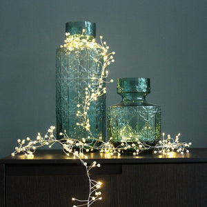 Pearl Cluster LED Fairy Lights - heart deco