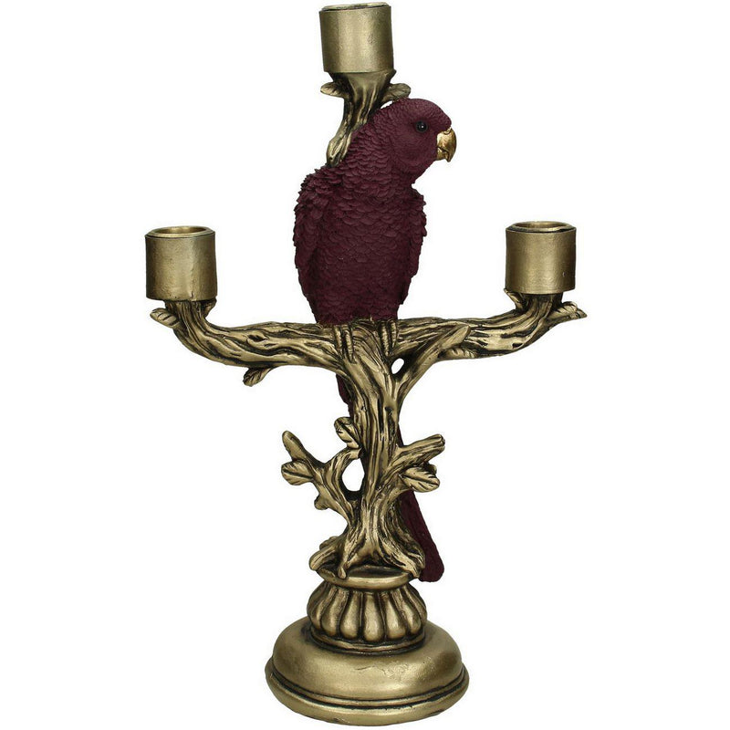 Purple Cockatoo Candelabra - heart deco